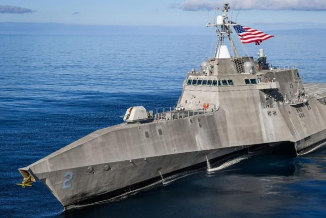 The U.S. Navy's littoral combat ship USS Independence sails in the Pacific Ocean. Photo courtesy of U.S. Navy