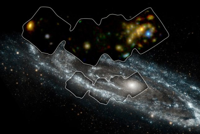 NuSTAR allowed scientists to scan a swath of the Andromeda galaxy rich in X-ray binaries. Photo by NASA/NuSTAR/Goddard