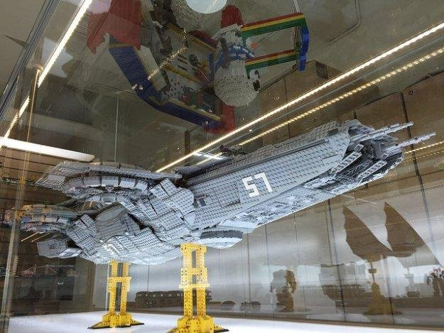 Zio Chao built a 4 1/2-foot model of the SHIELD Helicarrier from The Avengers with his friends, using about 15,000 Lego pieces. Photo by Zio Chao/Flickr