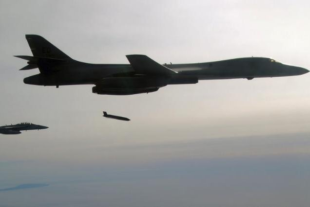 Lockheed Martin successfully fired production-configuration Long Range Anti-Ship Missiles from a U.S. Air Force B-1B bomber. Photo courtesy by U.S. Navy