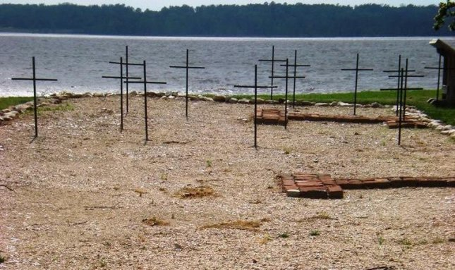 Mass grave at Jamestowne Historic National Park in Virginia. (CC/Sarah Stierch)