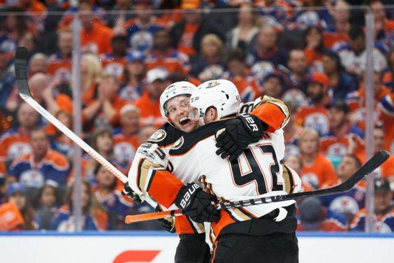 Continuing the trend in the series, the Anaheim Ducks won on the road in their series against Edmonton. The road team has won each game so far. Photo courtesy Anaheim Ducks via Twitter.