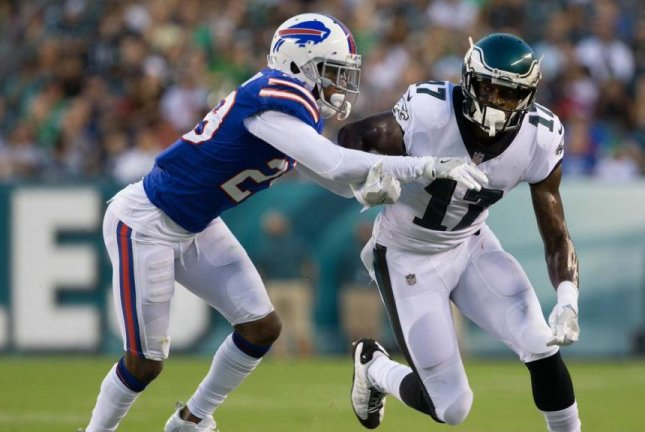 The Carolina Panthers looked outside the organization to bolster their secondary by trading for cornerback Kevon Seymour (left) from the Buffalo Bills on the day that rosters were trimmed to 53 players. Photo courtesy of Buffalo Bills/Twitter