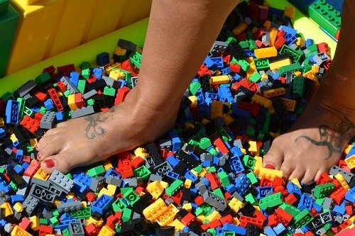 A children's charity in Britain is seeking volunteers to participate in a May 31 Lego Walk to raise money. Photo courtesy of Caudwell Children