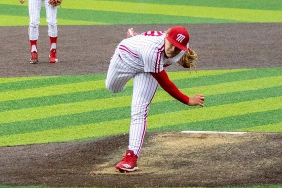 The Los Angeles Angels picked Miami University pitcher Sam Bachman with their first pick in the 2021 MLB Draft. Photo by Miami University Athletics