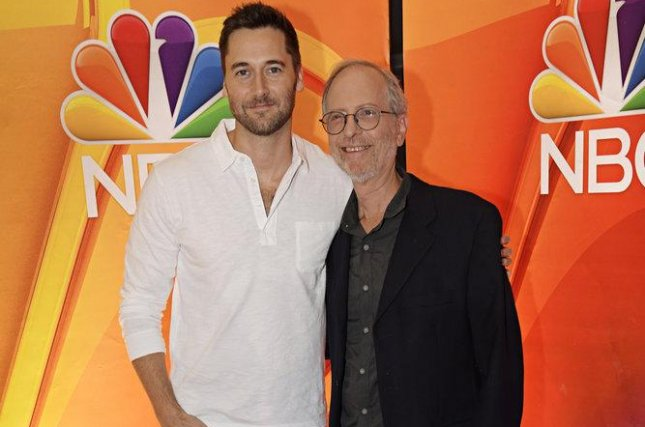 Ryan Eggold (L) and Dr. Eric Manheimer talked to reporters about their show New Amsterdam on Sept. 6 in New York. Photo by Virginia Sherwood/NBC