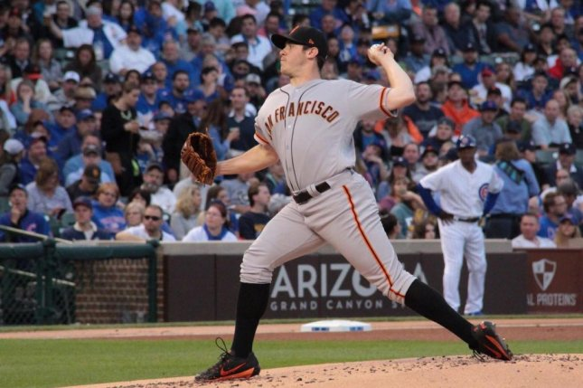 Ty Blach battled early but was able to settle in and lead the Giants past the Chicago Cubs on Monday night. Photo courtesy San Francisco Giants/Twitter