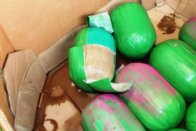 U.S. Customs and Border Protection agents in Texas seized 390 packages of suspected marijuana that had been concealed in a shipment of fresh watermelons from Mexico. Photo courtesy of U.S. Customs and Border Protection