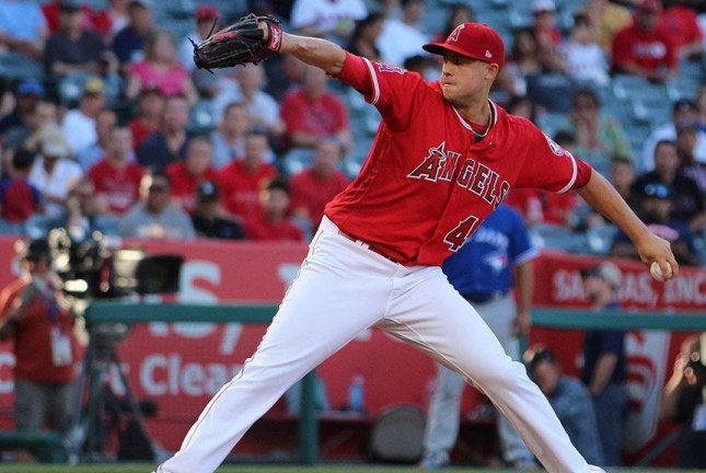 Tyler Skaggs pitched seven strong innings and great defense helped the Angels to victory. Photo courtesy Los Angeles Angels via Twitter