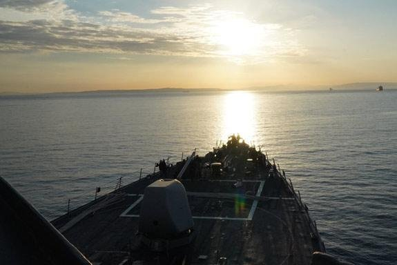 The U.S. Navy destroyer USS Porter entered the Black Sea on Thursday as part of routine routine maritime security operations, according to NATO. Photo courtesy U.S. Navy Europe/NATO