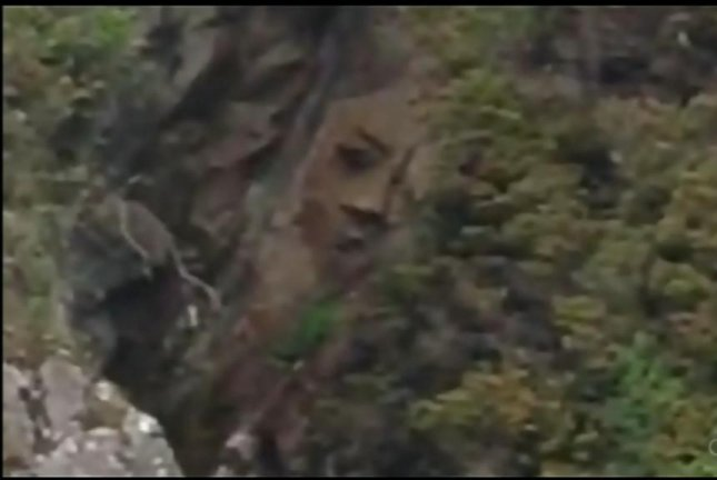 Hank Gus rediscovered the Pacific Rim National Park Reserve's rock face after it was first reported by a kayaker in 2008. CTV video screenshot