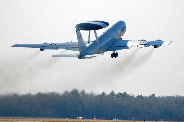 An E-3 Sentry takes off from a South Carolina airbase. U.S. Air Force photo by Airman 1st Class Matthew Davis.