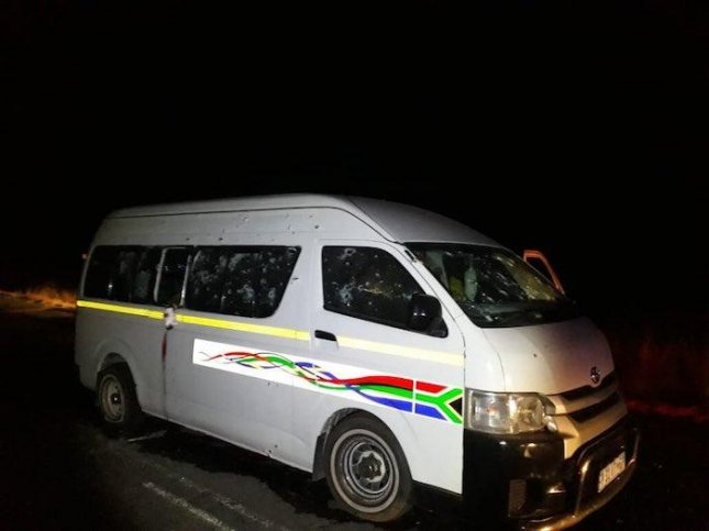 South African taxi drivers shot dead in minibus ambush