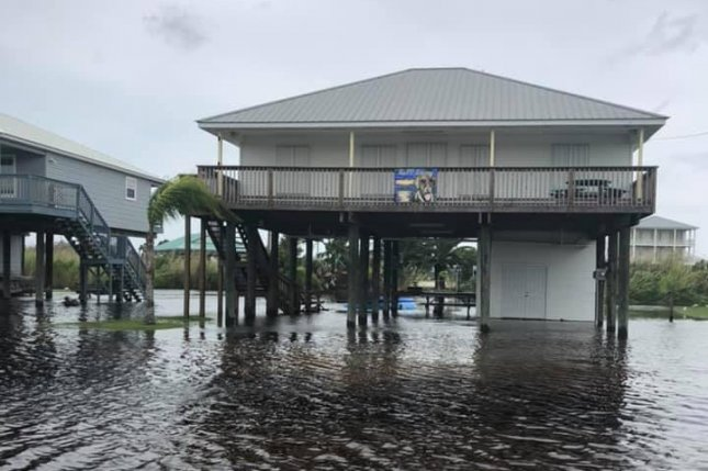 The U.S. Coast Guard Grand Station Isle reported a large majority of the roads are covered with water, with some impassable. Grand Isle is 107 miles south of New Orleans. Photo courtesy U.S. Coast Guard Grand Station Isle Coast Guard.