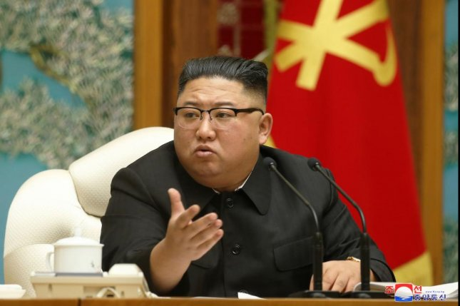 North Korean leader Kim Jong Un called for tougher COVID-19 measures at his first public appearance in over three weeks, state media reported on Monday. Photo by KCNA