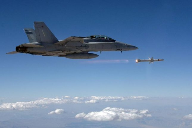 The Advanced Anti-Radiation Guided Missile is compatible with all variants of the F/A-18, Tornado, EA-18G, F-16, EA-6B and F-35. Photo courtesy of Northrop Grumman