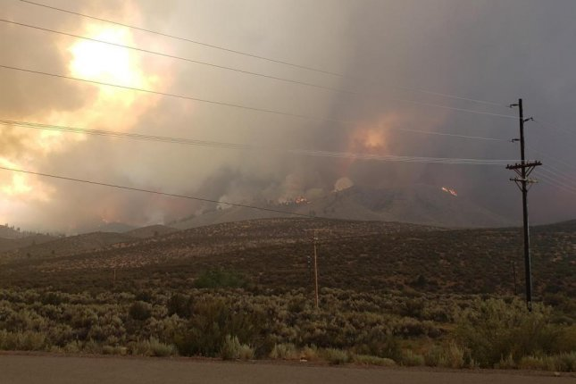 Two firefighters died while combatting the Cedar Basin Fire in Arizona on Saturday while the Bootleg Fire in Oregon and Beckwourth Complex Fire in California, pictured here, both rapidly expanded in size. Photo courtesy InciWeb