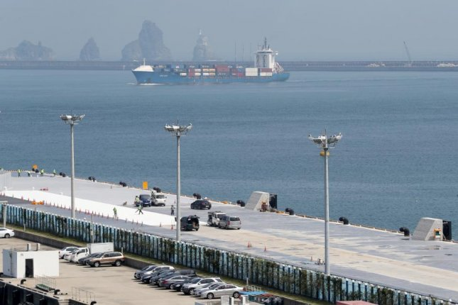 A general view shows a cruise port in the southeastern port city of Busan, South Korea, on Sept. 18, 2018. Photo by Yonhap/EPA-EFE