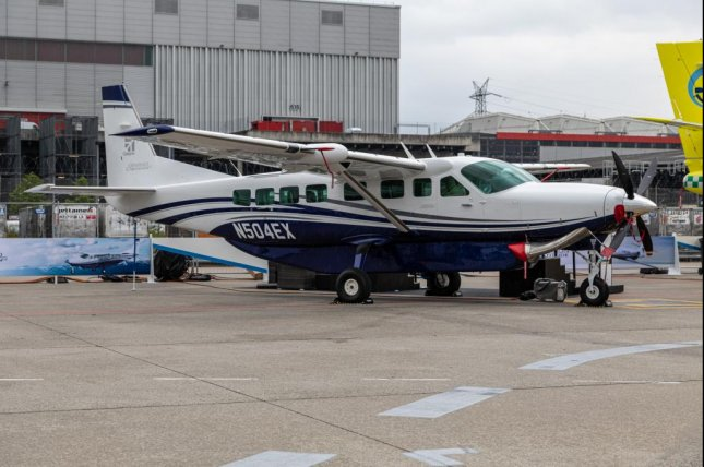 Textron has received a contract to build two Cessna Grand Aircraft, like this one shown in Palexpo, Switzerland, for Rwanda's military. Photo by Matti Blume/Wikimedia Commons