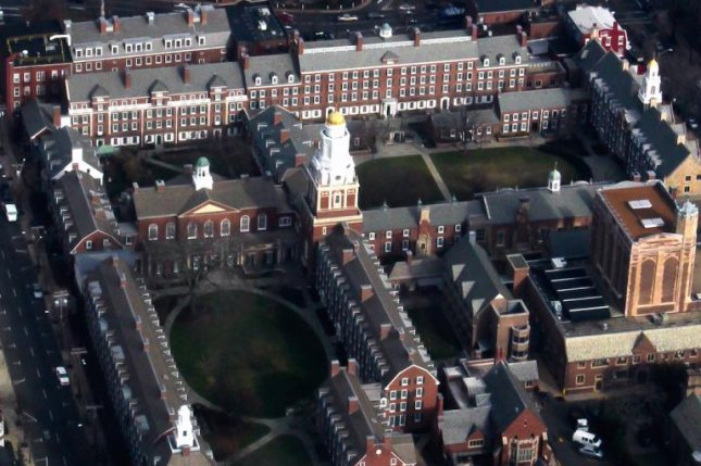 The dean of Yale's Pierson College, seen in this aerial photograph, was placed on leave Thursday after the school newspaper printed a number of her racist Yelp reviews. Photo by Emilie Foyer/Wikimedia Commons