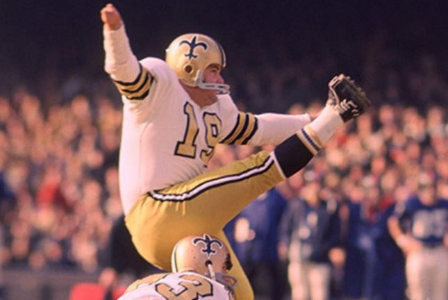 Former New Orleans Saints kicker Tom Dempsey's 63-yard field goal was an NFL record for 28 years. Photo courtesy of New Orleans Saints/Official Website