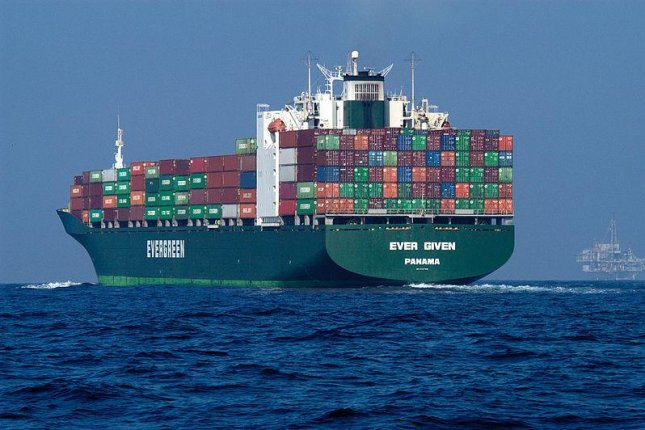 The 1,300-foot-long Ever Given container ship ran aground in the Suez Canal on Tuesday, blocking shipping traffic in both directions. Photo courtesy NOAA's National Ocean Service/Wikimedia Commons