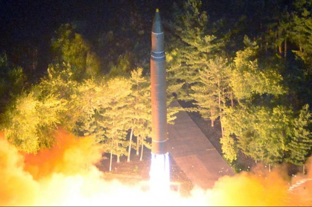 North Korean missile Hwasong-14 may have failed after launch on Friday, according to a U.S. analyst. File Photo by KCNA/EPA
