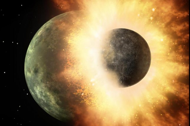 Scientists hypothesize that the collision that formed the moon also delivered much of Earth's water. Photo by NASA/JPL/Caltech