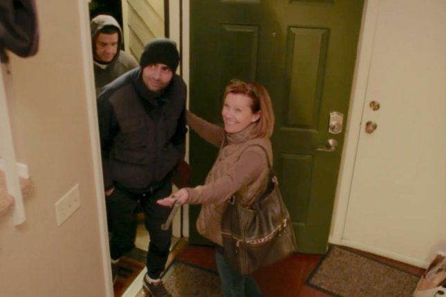 A still shot from the film Welcome Strangers shows recently released immigrants in Colorado arriving at Casa de Paz, a hospitality house where they can temporarily stay before traveling to family. Photo courtesy of Welcome Strangers