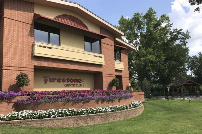 The Firestone Country Club (pictured) takes center stage again, as top-ranked Dustin Johnson defends his title this week in what is now the WGC-Bridgestone Invitational, which he won by a single stroke over Scott Piercy last year in his first event since claiming his only major title in the U.S. Open. Photo courtesy of WGC Invitational/Twitter