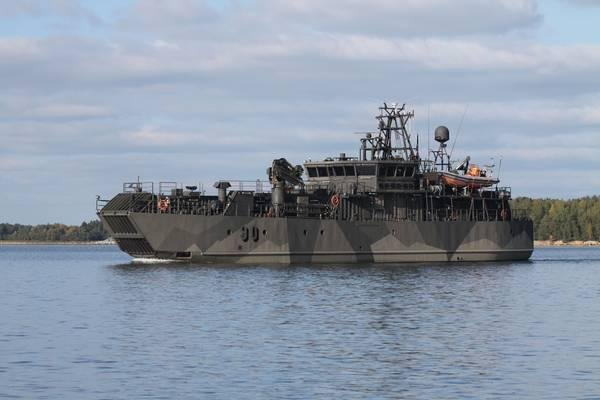 The last of three minelayer ships of the Finnish Defense Forces receiving systems upgrades from Atlas Elektronik has been delivered to the Finnish Defense Forces Logistics Command, the company announced this week. Photo courtesy of Atlas Elektronik