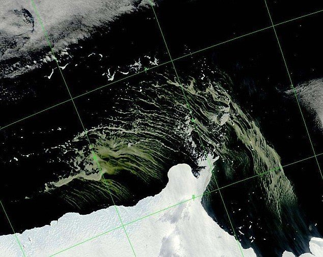 The images were captured from the Modis instrument on Nasa's Terra satellite, located at least 400 miles above Earth. Credit: NASA