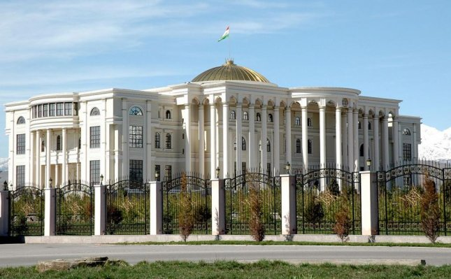 The presidential Palace in Dushanbe, Tajikistan. The Central Asian country has banned holiday gift-giving and displays of Christmas trees this year. Photo from wikipedia/VargaA.