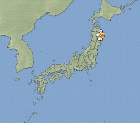 A 6.3-magnitude earthquake struck northeastern Japan Wednesday. Few injuries were reported, and officials warned another earthquake could be imminent. Image courtesy of Japan Meteorological Agency