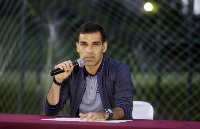 4873508d2d6 Mexican soccer player Rafael Marquez speaks to the media on Wednesday.  Marquez said he s seeking to clarify accusations about purported links to  drug ...