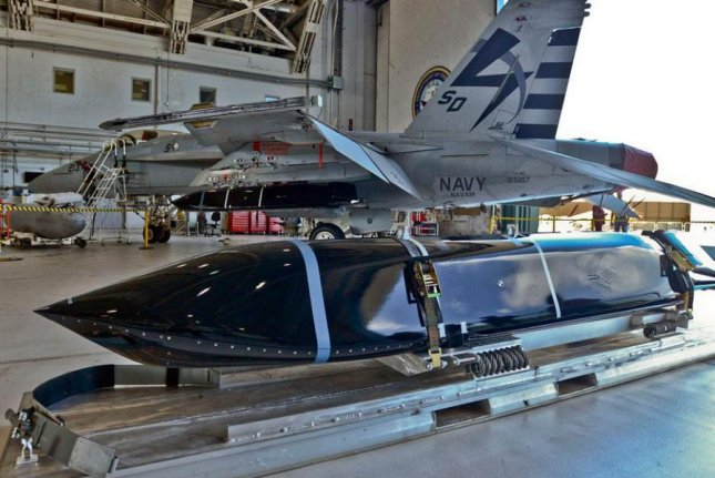 A Long-Range Anti-Ship Missile awaits installation on an F-18 fighter jet. Lockheed Martin was awarded a $174.9 million contract for support of the missile system. File Photo courtesy of U.S. Navy