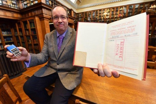 David Harrington, a librarian at the Middlesbrough Central Library, said a book was recently returned to a drop box 58 years after its due date. Photo courtesy of Middlesbrough Libraries
