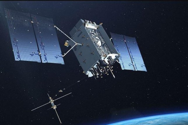 The first GPS III satellite, made by Lockheed Martin, was successfully launched on Sunday. It provides greater GPS security and longer life than previous GPS satellites in orbit. Photo courtesy of U.S. Air Force
