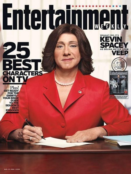 Kevin Spacey as president Selina Meyer from 'Veep.' (EW)
