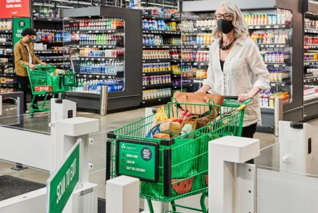 Amazon opens its first full-size Amazon Fresh grocery store in the Seattle area on Thursday. It allows customers to take what they need and walk out, skipping the traditional cashier line. Photo courtesy Amazon