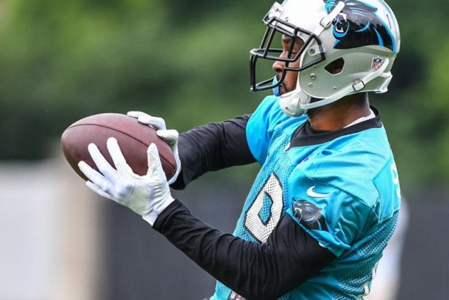 The Carolina Panthers released wide receiver Russell Shepard (pictured) after one season with the team, the Panthers announced Monday. Photo courtesy of Carolina Panthers/Twitter