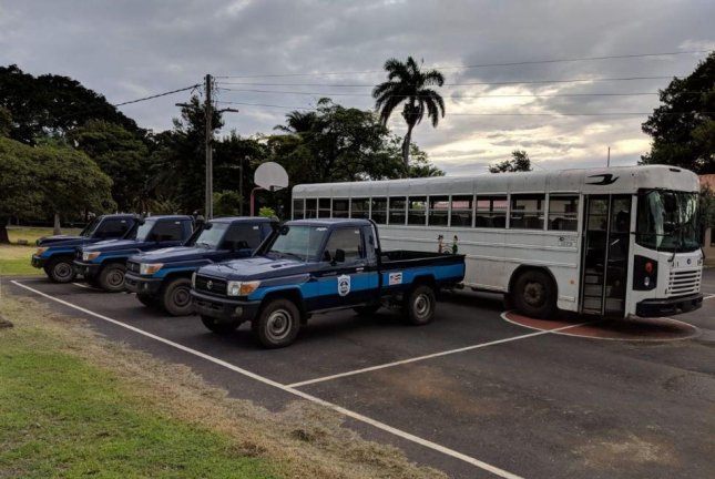 The Nicaraguan government returned vehicles to the U.S. Embassy in Managua, Nicaragua, on June 27. Photo courtesy U.S. Embassy in Nicaragua