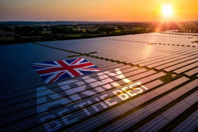 Construction of a 430,000 square-foot array of solar panels is underway at an army base in Leconfield, England, the British Ministry of Defense said on Wednesday. Photo courtesy of British Ministry of Defense
