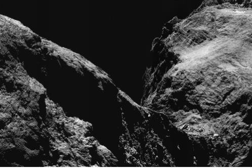 Evidence of nitrogen on a comet mapped in 2015 was established in a new study by Dr. Oliver Poch and his team of researchers. Photo courtesy of European Space Agency
