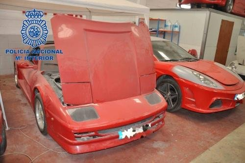 Police In Spain Detained Three Members Of A Gang That Had Been Converting  Old Toyotas Into Fake Ferraris And Lamborghinis. Police Uncovered The  Factory ...