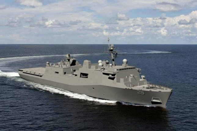 A rendering of the U.S. Navy's newest amphibious transport dock, LPD 29. Photo by Huntington Ingalls Industries