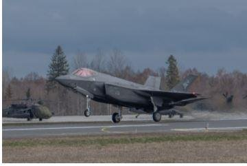 Italian F-35 fighter planes assigned to NATO's Air Policing mission in Estonia were involved in intercepting four Russian planes over the Baltic Sea on Thursday. Photo courtesy of NATO