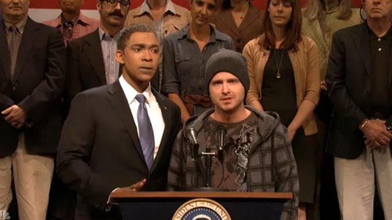 'Breaking Bad's Aaron Paul makes surprise 'SNL' cameo [VIDEO]