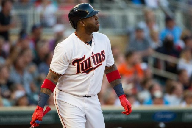 Minnesota Twins' Kennys Vargas watches a home run sail over the wall. Vargas hit a mammoth three-run homer to pick up a struggling Ervin Santana as the Twins outlasted the Chicago White Sox 9-7 on Tuesday. Photo courtesy of Minnesota Twins/Twitter