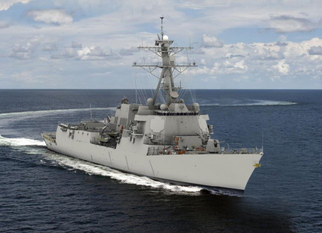 DDG 125, the Jack H. Lucas, will be the first Flight III ship of the Arleigh Burke-class of destroyers. The upgrades include the Advanced Missile Defense Radar, as well as enhanced power and cooling systems, among other improvements. Photo courtesy Huntington Ingalls